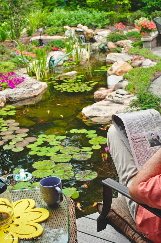 Relax next to your Ecosystem Pond